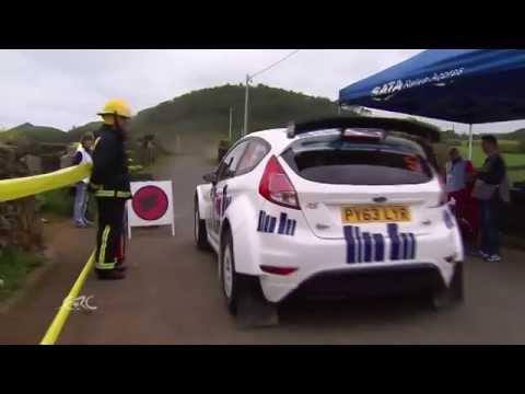 FIA ERC - SATA Rallye Açores 2014 - 2 cars with 1 stone (Kajetanowicz crash)
