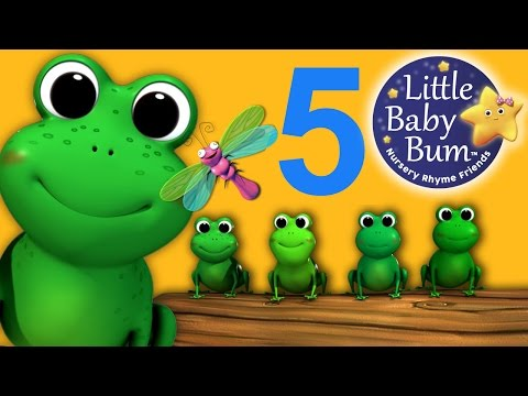 version - 5 Little Speckled Frogs - NEW VIDEO | | Nursery Rhymes | HD Version with lyrics.