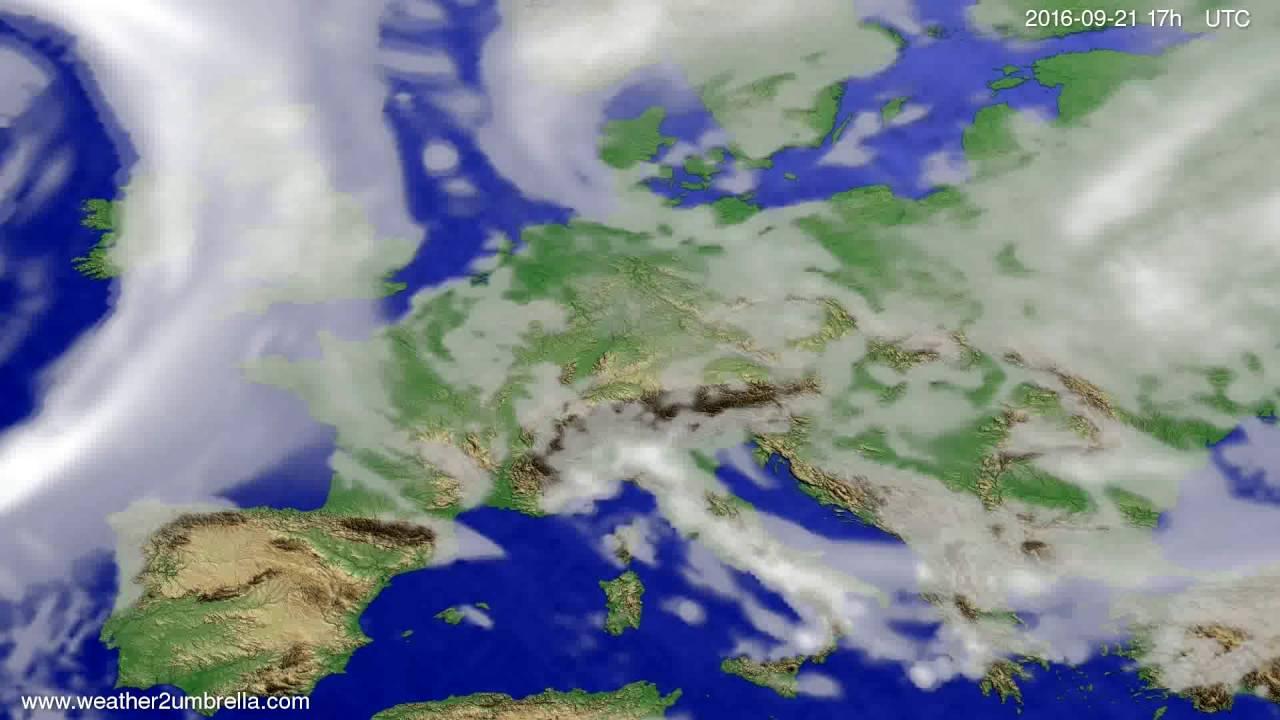 Cloud forecast Europe 2016-09-19