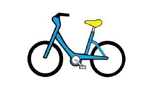 Видео: как просто нарисовать велосипед карандашом