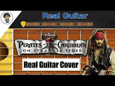 Pairate of The Caribbean Theme | Real Guitar App Cover - By Mobile Guitarist.
