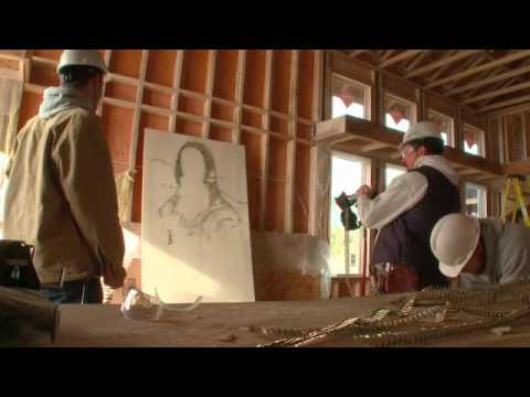 Guy Make Mona Lisa With Semiauto Nail Gun