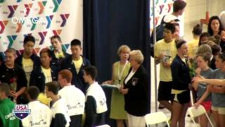 Men's 400m Free Relay Awards - 2012 YMCA Long Course National Championships