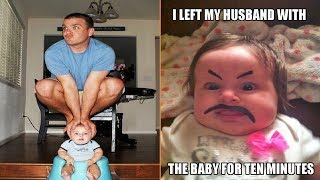 Video When You Leave Dad Alone With the Baby MP3, 3GP, MP4, WEBM, AVI, FLV Agustus 2019