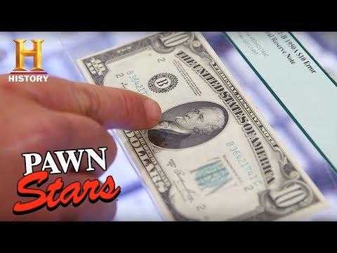 "Pawn Stars: ""The Smoking Hamilton"" $10 Bill (Season 15) | History"
