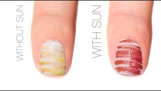 Fan Brush Color-Changing Nail Art Design
