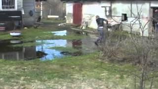 Ловля щуки нерест в разлив весной  2013 год рыбалка щуки возле дома