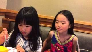 Amber and Chloe eating at Souplantation