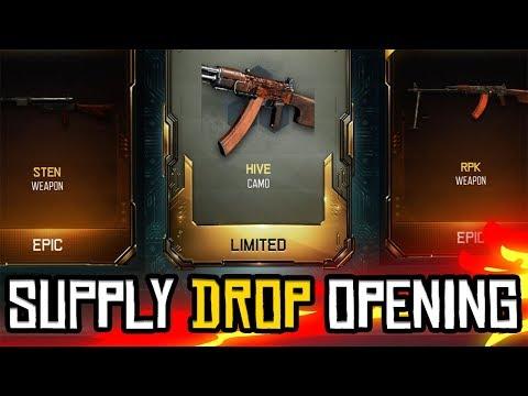 STEN & RPK TOEGEVOEGD! - SUPPLY DROP OPENING #45 (COD: Black Ops 3) (видео)