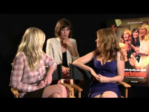 Lizzy Caplan - In a new 2012 interview for Bachelorette with Isla Fisher, Kirsten Dunst, and Lizzy Caplan, they tell Deidre Behar about the perks of being famous, brides, w...