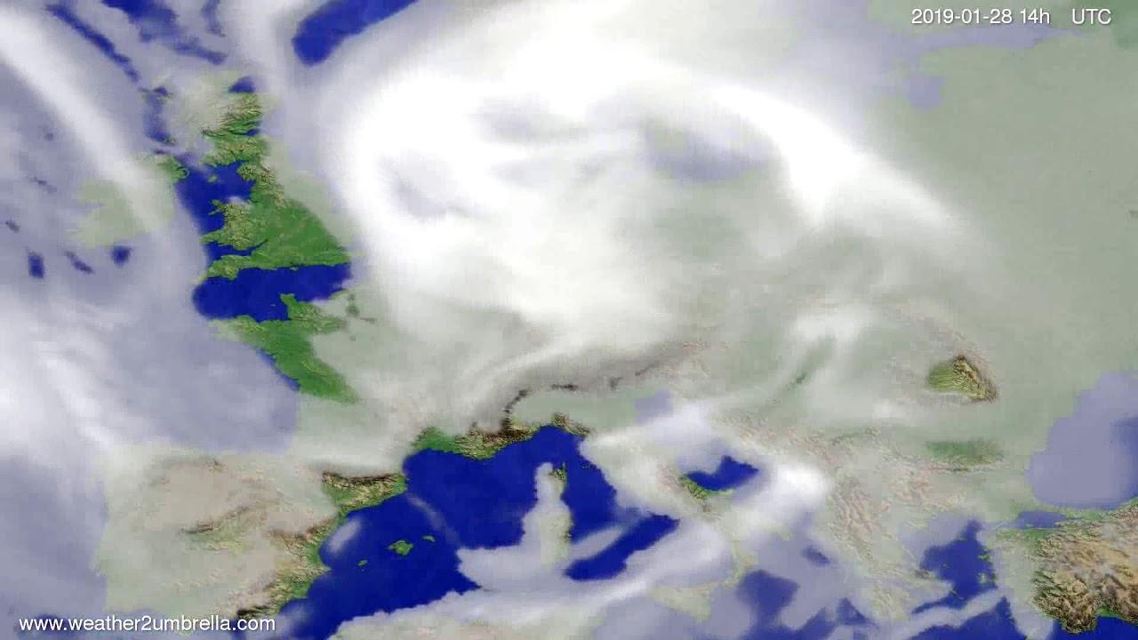 Cloud forecast Europe 2019-01-24