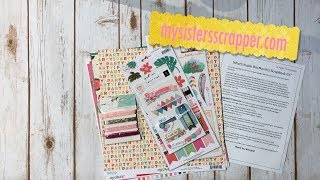 Hello everyone! I just wanted to share the kit contents for the Scrapbookingstore.com May and June Kits. https://www.scrapbookingstore.com/Thanks for watching!  Stay tuned to see what I create with these fabulous kits!