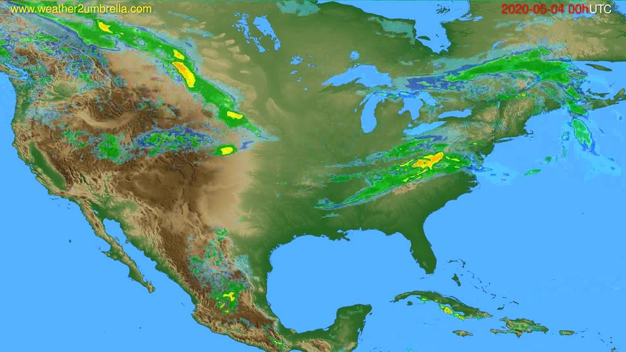Radar forecast USA & Canada // modelrun: 12h UTC 2020-05-03