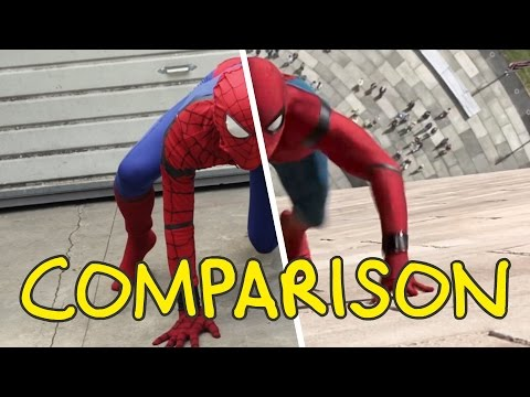 Spider-Man: Homecoming - Homemade Side by Side Comparison