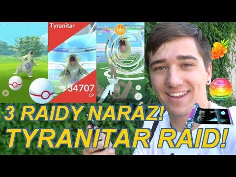Pokemon GO | TYRANITAR RAID! RAIDY JEDOU!! 3X RAID NARÁZ | Jakub Destro