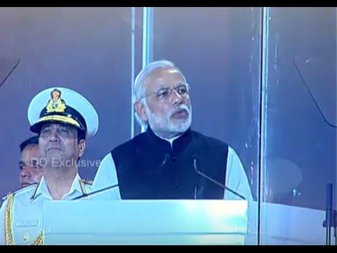 PM addresses International Fleet Review, Visakhapatnam: 07.02.2016