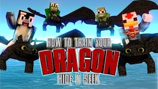 Minecraft | MORPH HIDE AND SEEK - How To Train Your Dragon Mod! (TOOTHLESS MOD)!