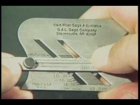 how to use skew-t fillet weld gauge