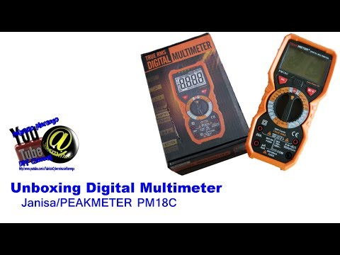 Unboxing Multimetro Janisa Peakmeter PM18C Unpacking Digital Multimeter Janisa/PeakMeter PM18C