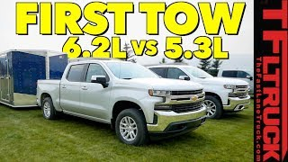Compared: 2019 Chevy Silverado 1500 5.3L vs 6.2L V8 First Tow Review! by The Fast Lane Truck