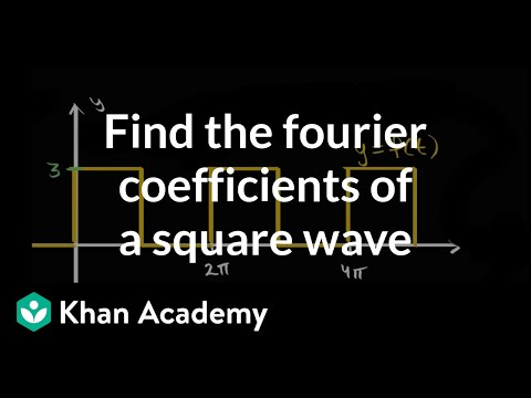Finding Fourier coefficients for square wave (video) | Khan Academy
