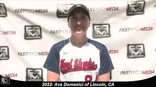 2022 Ava Domenici Pitcher Softball Skills Video - AASA Ayala