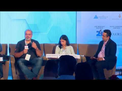 "Sunder Madakshira moderates a panel discussion on the topic ""Is Technology Driving the Future of CX?"" at the Pitch CMO Summit on 4th Jul, 2018 at the Taj Vivanta, Bangalore"