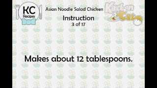 KC Asian Noodle Salad Chicken YouTube video