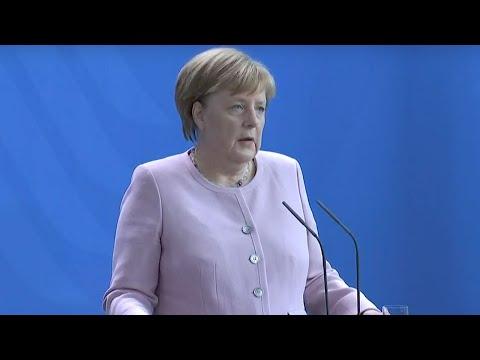 Pressekonferenz mit Bundeskanzlerin Merkel und dem ukrainischen Staatspräsidenten Wolodymyr Selenskyj
