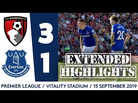 Video: EXTENDED HIGHLIGHTS: BOURNEMOUTH 3-1 EVERTON