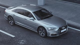 Mild hybrid and e-tron: the drivesThe new A8 starts out in the German market with two extensively reengineered V6 turbo engines: a 3.0 TDI and a 3.0 TFSI. The diesel develops 210 kW (286 hp), and the gasoline version 250 kW (340 hp). Two eight-cylinder versions – a 4.0 TDI with 320 kW (435 hp) and a 4.0 TFSI with 338 kW (460 hp) – will follow slightly later. The exclusive top engine version is the W12 with a displacement of 6.0 liters. (These vehicles are not yet on sale. They do not yet have type approval and are therefore not subject to Directive 1999/94/EC.)All five engines operate in conjunction with a belt alternator starter (BAS), which is the nerve center of the 48-volt electrical system. This mild hybrid technology (MHEV, mild hybrid electric vehicle) enables the car to coast with the engine switched off, and to restart smoothly. It also has an extended start/stop function and an energy recovery output of up to 12 kW. The combined effect of these measures is to bring down the fuel consumption of the already efficient engines even further – by as much as 0.7 liters (0.2 US gal) per 100 kilometers (62.1 mi) in real driving conditions.The A8 L e-tron quattro with its powerful plug-in hybrid drive will follow at a later date (This vehicle is not yet on sale. It does not yet have type approval and is therefore not subject to Directive 1999/94/EC.): Its 3.0 TFSI and the powerful electric motor achieve 330 kW (449 hp) of system power and 700 Nm (516.3 lb-ft) of system torque. The lithium-ion battery stores enough power for about 50 kilometers (31.1 mi) of electric driving. It can optionally be charged by Audi Wireless Charging. A pad in the garage floor transfers the power inductively to a receiver coil in the automobile with a power output of 3.6 kW.World premiere: the pilot-driving Audi A8The new A8 is the first production automobile to have been developed specially for highly automated driving. The Audi AI traffic jam pilot takes charge of driving in slow-moving