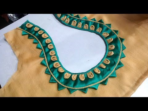 Video easy pot neck designe blouse cutting and stitching at home 2017 download in MP3, 3GP, MP4, WEBM, AVI, FLV January 2017
