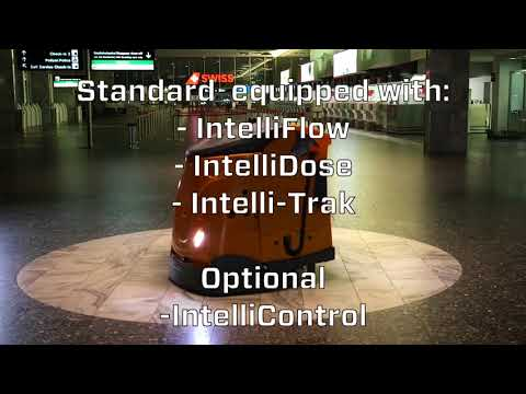 Taski, Swingobot 2000,Robotic floor cleaning, Airport