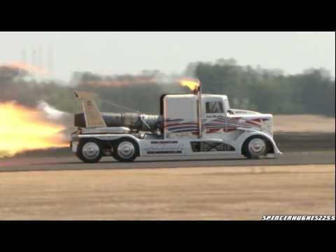 2011 California Capital Air Show - Patty Wagstaff Vs. Shockwave Jet Truck