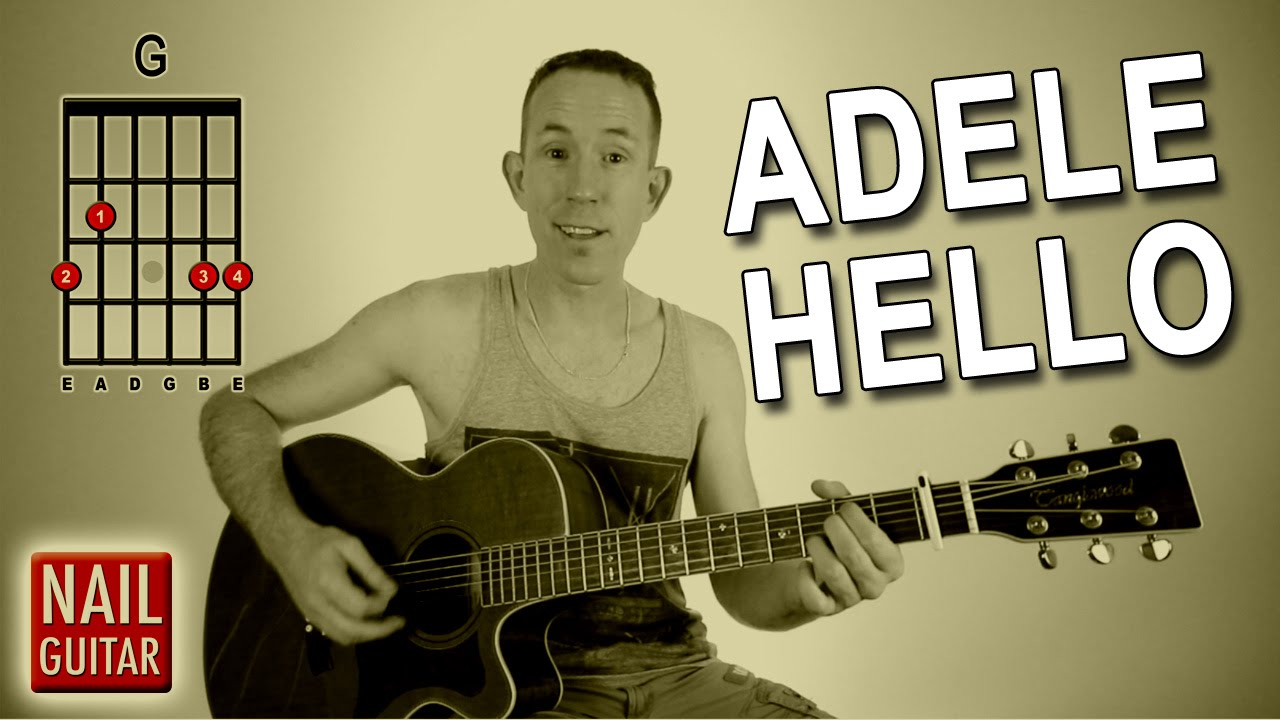 Hello ★ Adele ★ Guitar Lesson – Easy How To Play Acoustic Songs – Chords Tutorial