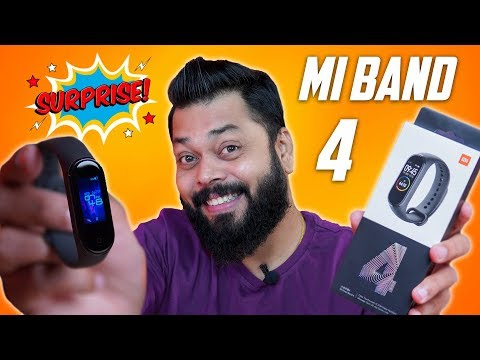 MI Band 4 Unboxing & First Look + GIVEAWAY ⚡⚡⚡