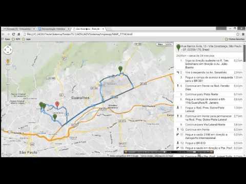 Controle de Itinerário de entregas e romaneio de cargas