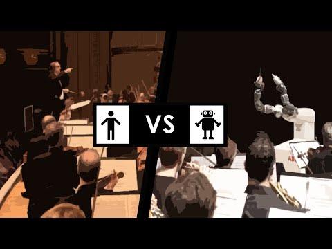 Human vs Machine : Conducting (Robot Arm Tech Automation)
