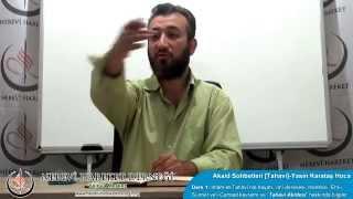 Tahavi Akidesi-Akaid Dersleri 01:  Giriş-İmam Tahavi'nin Hayatı ve Eserleri; Akaid İlmi ve Kelam Meselesi