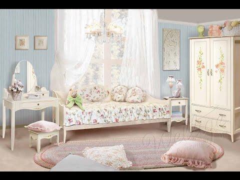 Детская спальня из коллекции мебели Флорис в стиле Прованс.