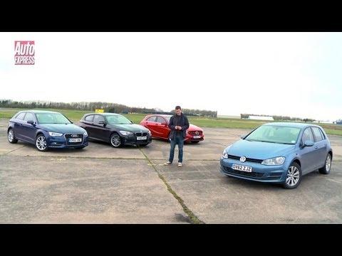 Volkswagen Golf vs Mercedes A-Class vs Audi A3 vs BMW 1 Series – Auto Express