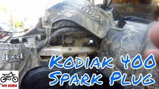 10. Yamaha Kodiak 400 2005 Model - Changing The Spark Plug !