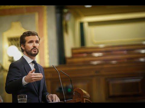 Réplica de Pablo Casado en el Pleno del Congreso.