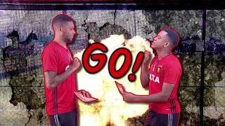 Desafio da piada ruim no Globo Esporte Recife, com André e rithely.