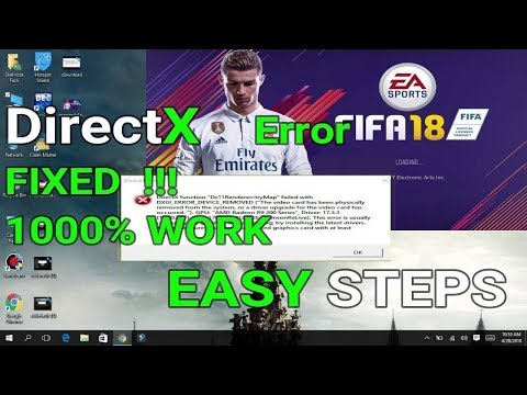 FIFA 17/18 Practice Arena Direct X Error Crash Fix Before The Match  2018