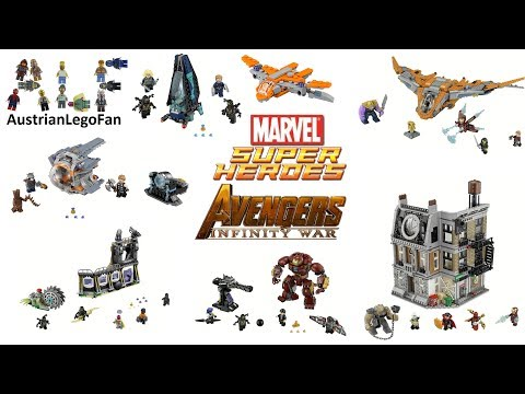 All Lego Super Heroes Avengers Infinity War Sets - Lego Speed Build Review