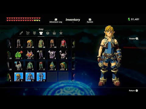 Zelda: BOTW (How To Get Xenoblade Chronicles 2 Salvager Outfit) Single Night Run