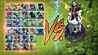 Video Max wizard tower vs all troops 😇 || No limits || MP3, 3GP, MP4, WEBM, AVI, FLV September 2019