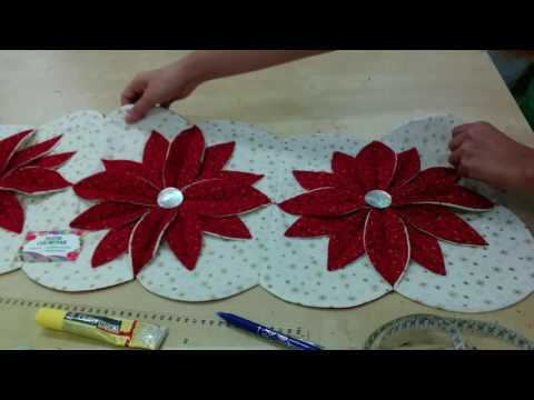 patchwork - centrotavola con le stelle di natale