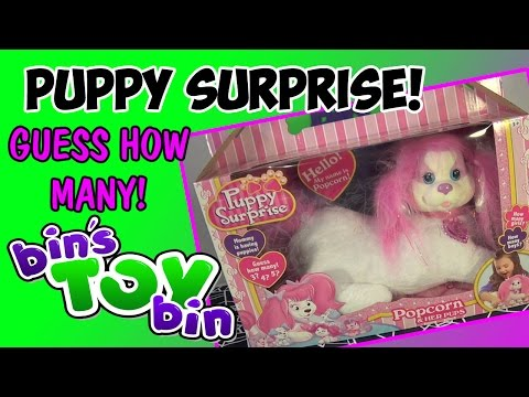 bin - Hot new toy for Christmas 2014 is the return of Puppy Surprise! How many puppies will our mommy (Popcorn) have? 3, 4 or 5? Also, help us name them! Should we also review Zoe or Sugar, the...